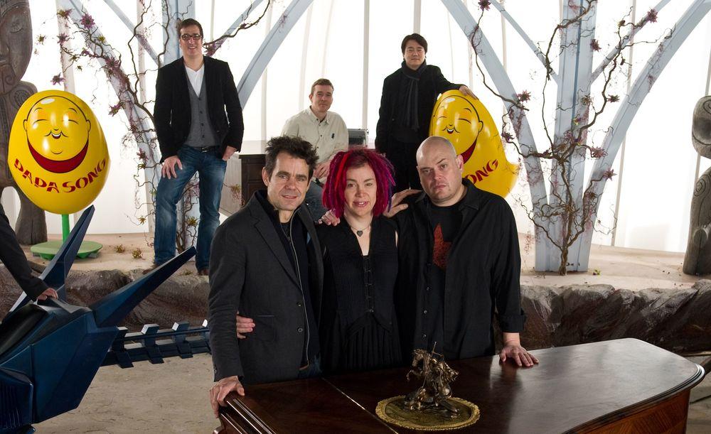 Tom Tykwer, Wachowski kardeşler ile birlikte 'Cloud Atlas' setinde